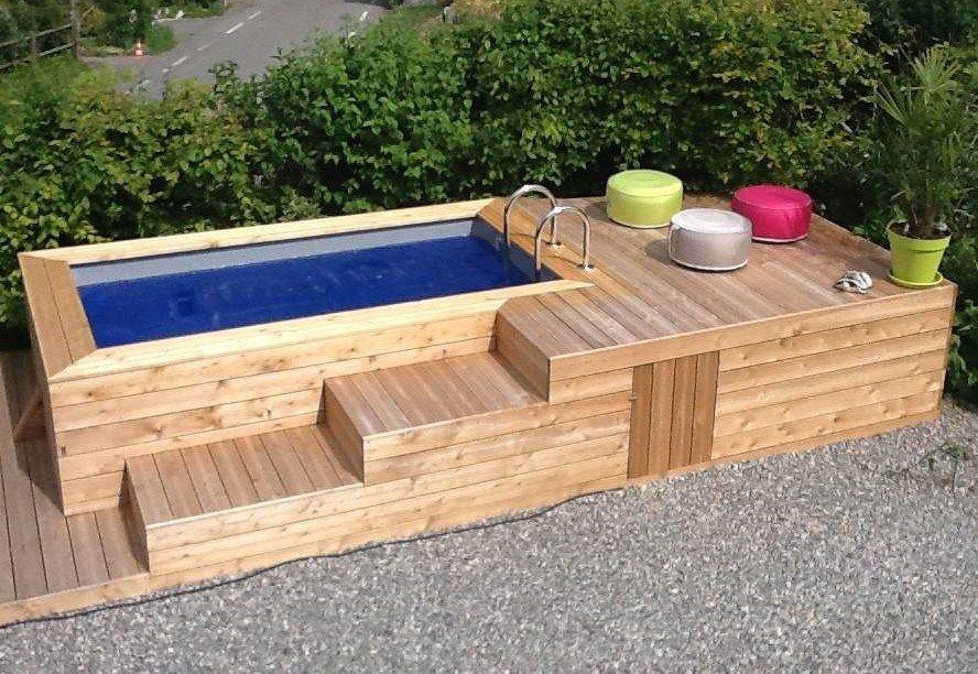 Les mini piscines en bois apportent une nouvelle approche for Piscine hors sol structure metallique