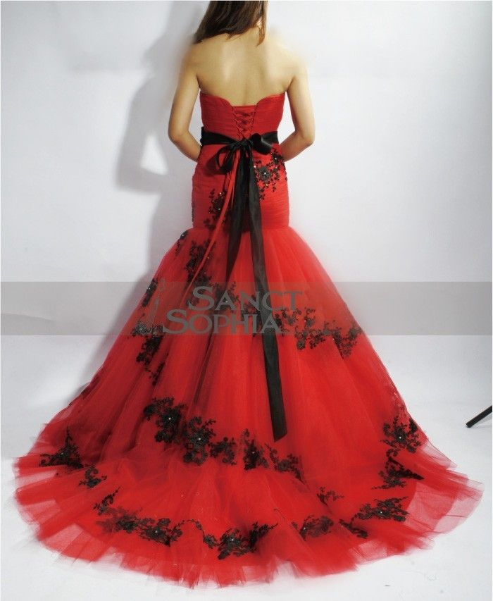 red and black wedding dresses - Google Search | 5 year anniversary | Pinterest | Black wedding dresses