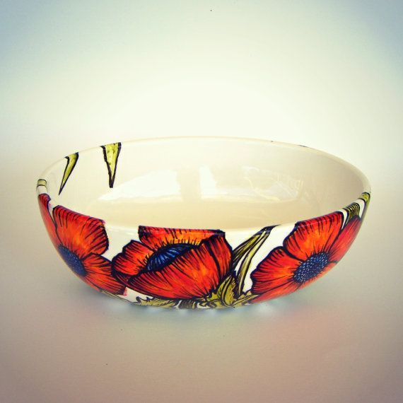 White Decorative Bowl Image Result For Ceramic Poppy Bowl Tutorial  Clay  Pinterest