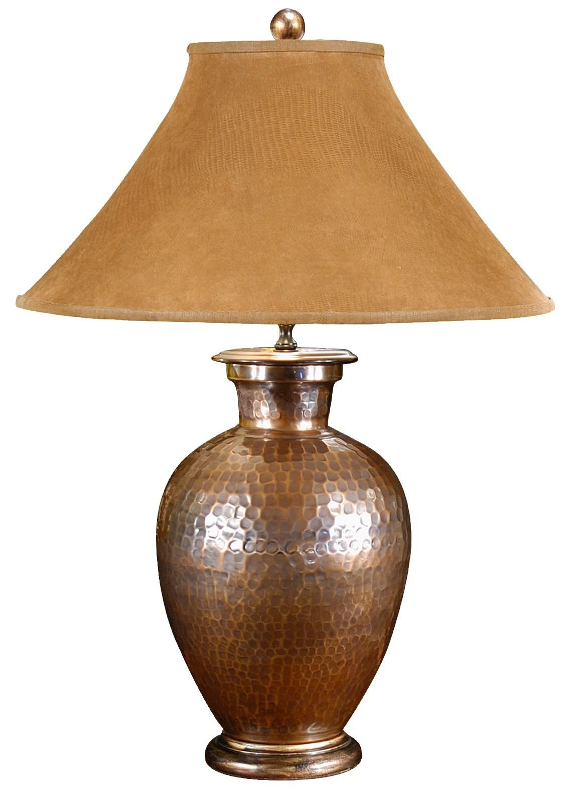 Wildwood Antique Copper Hand Hammered Pot Buffet Table Lamp ...