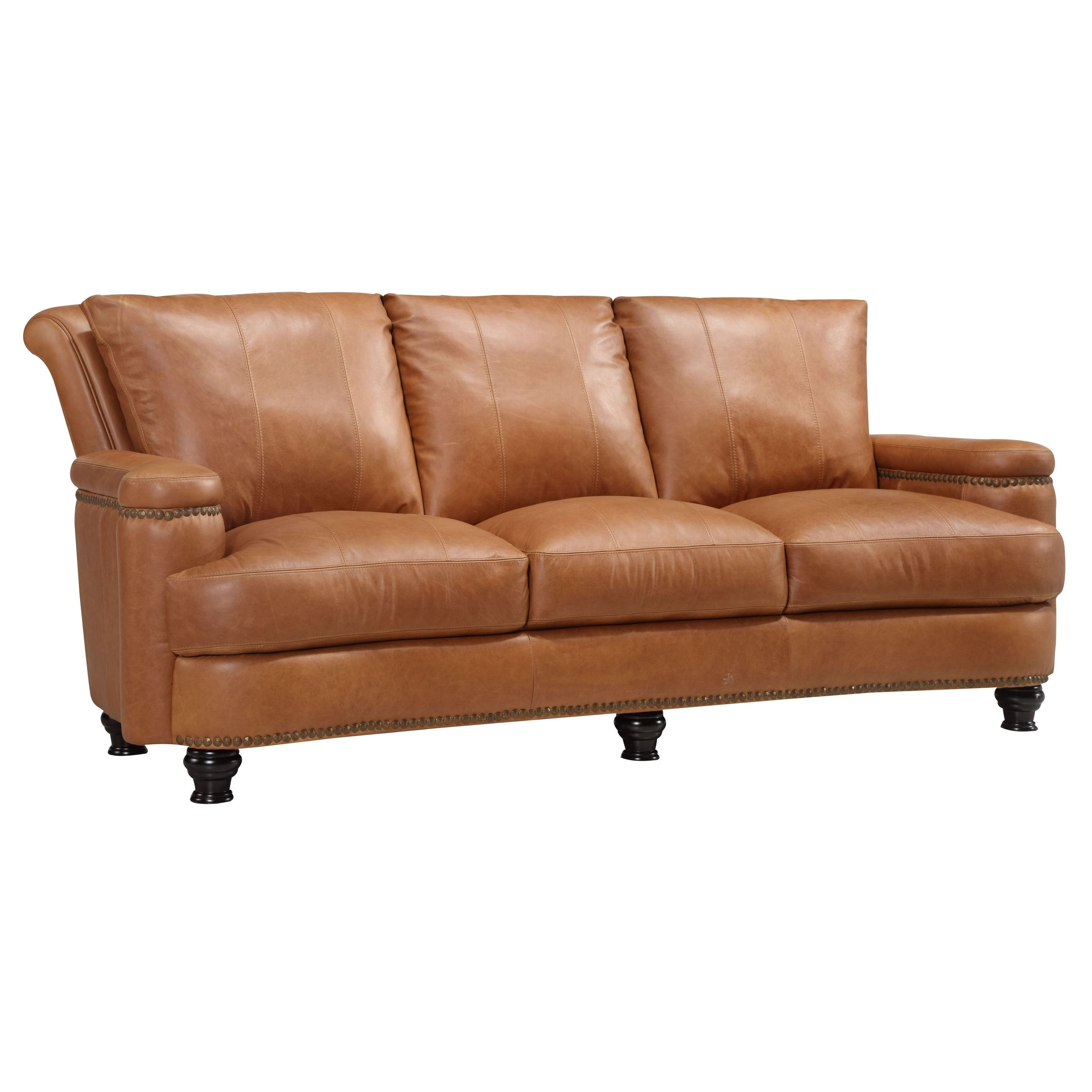 Oliver Pierce Nathan Top Grain Italian Leather Sofa, Tan | Products ...