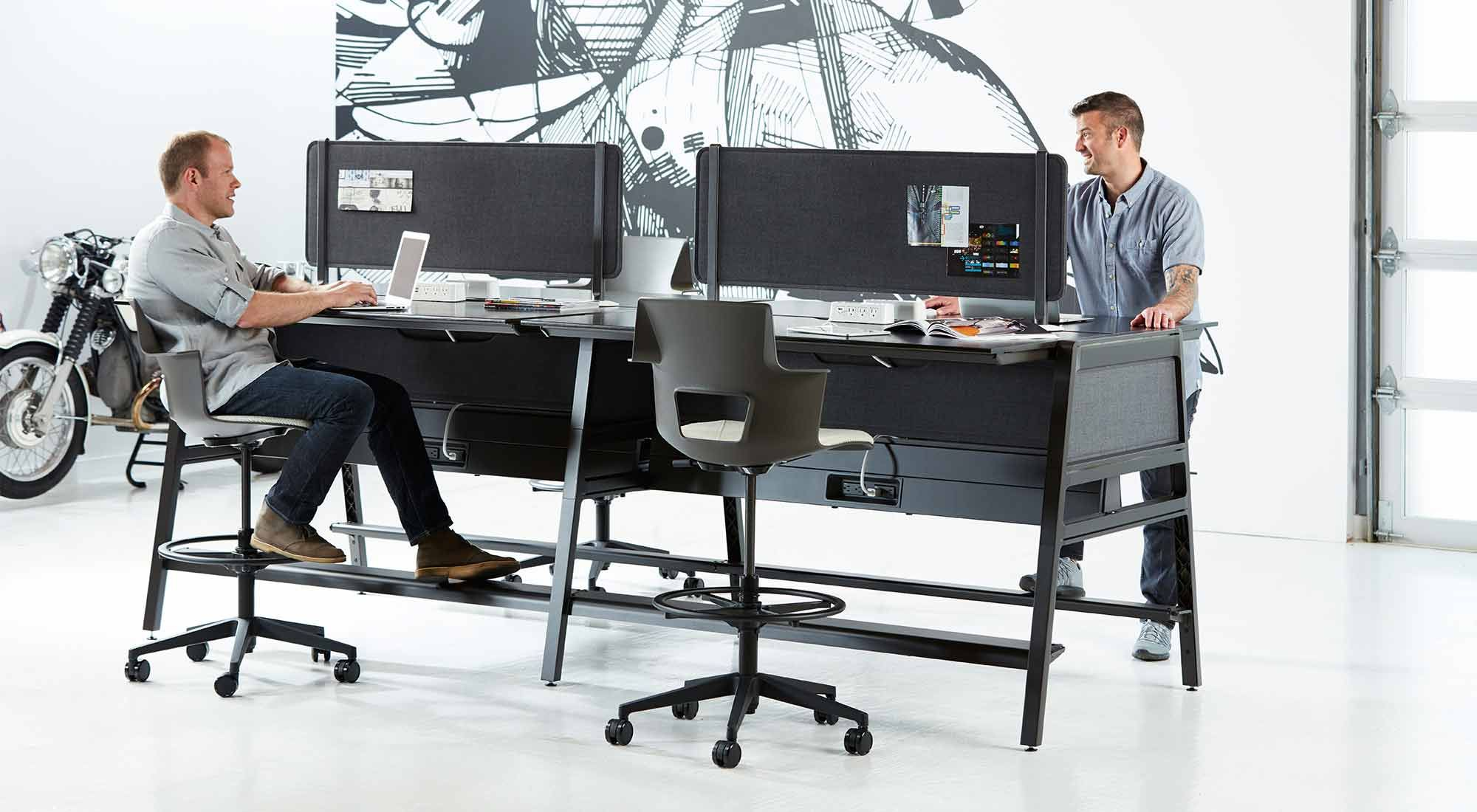 Bivi Collection Of Modular Office Desk Systems Office Interiors Workplace Design Modular Office