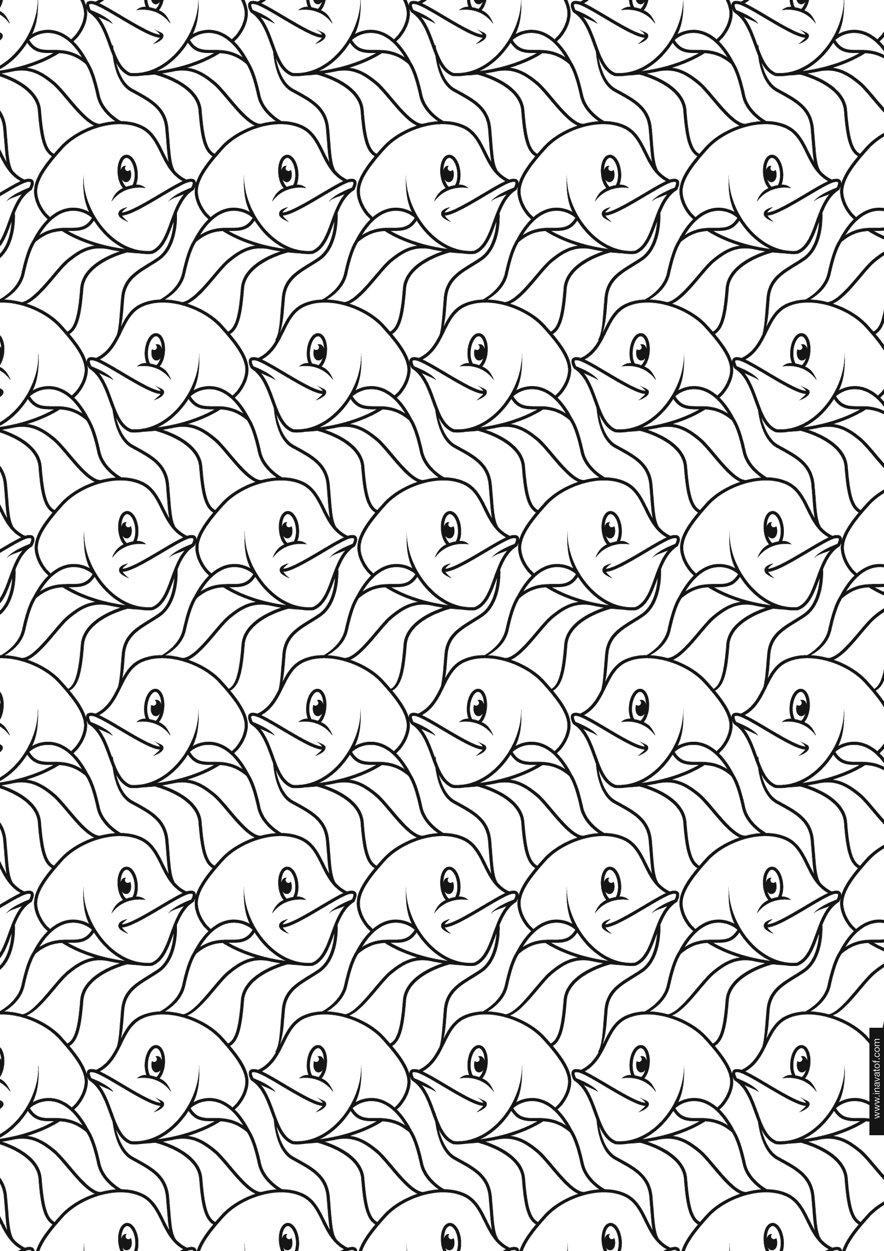 Worksheets Tessellation Worksheets To Color 1000 images about math tessellations on pinterest