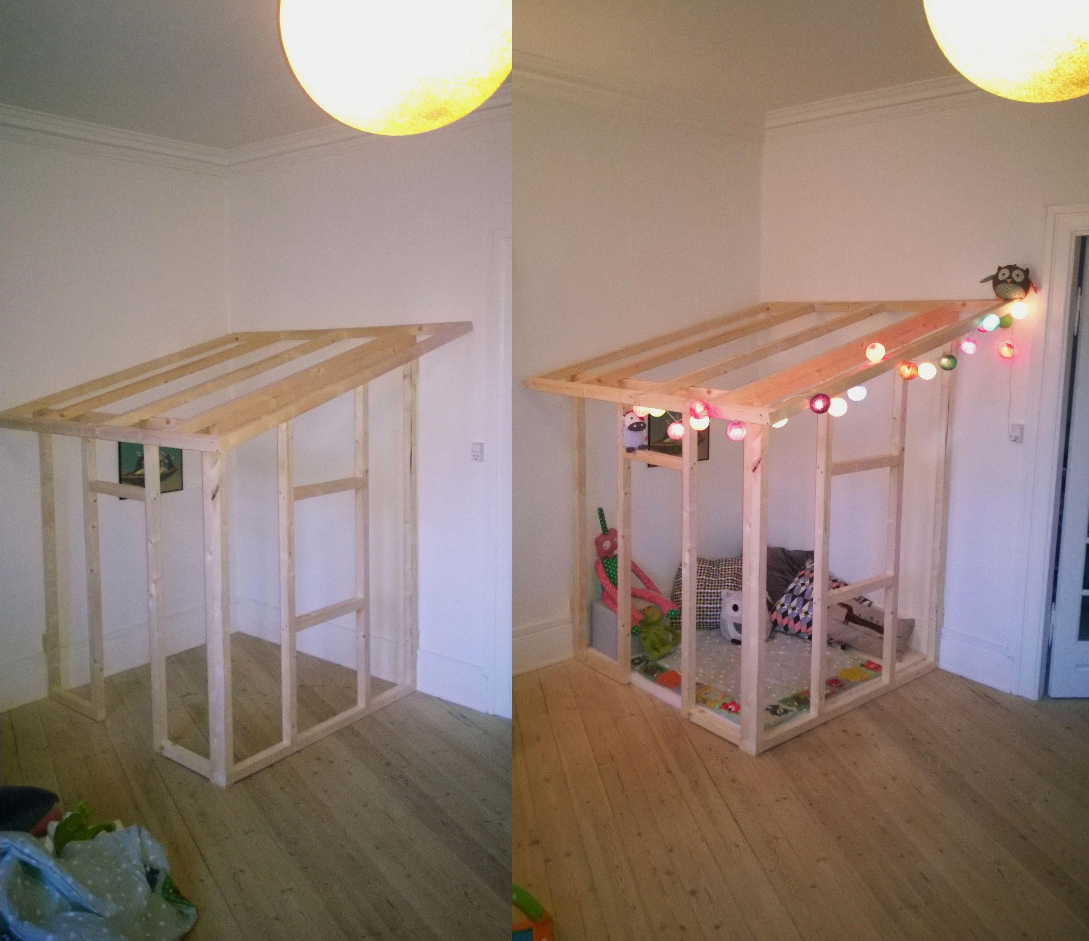 I Made This Wooden Frame Indoor Playhouse For A Friend's