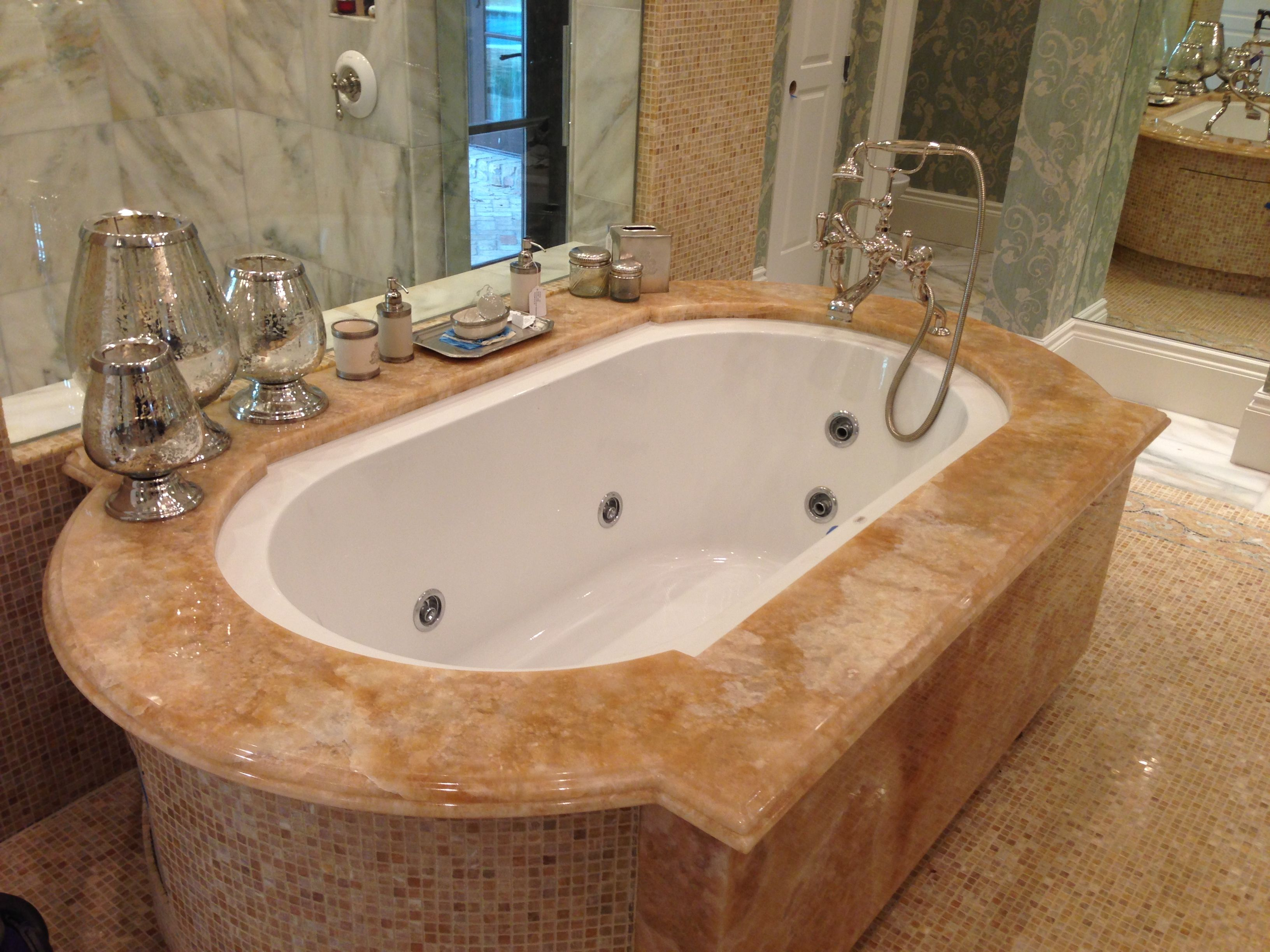 Beautiful Brown / Tan / White Granite Bathtub | ADP Surfaces Of Orlando, Florida |  ADPSurfaces