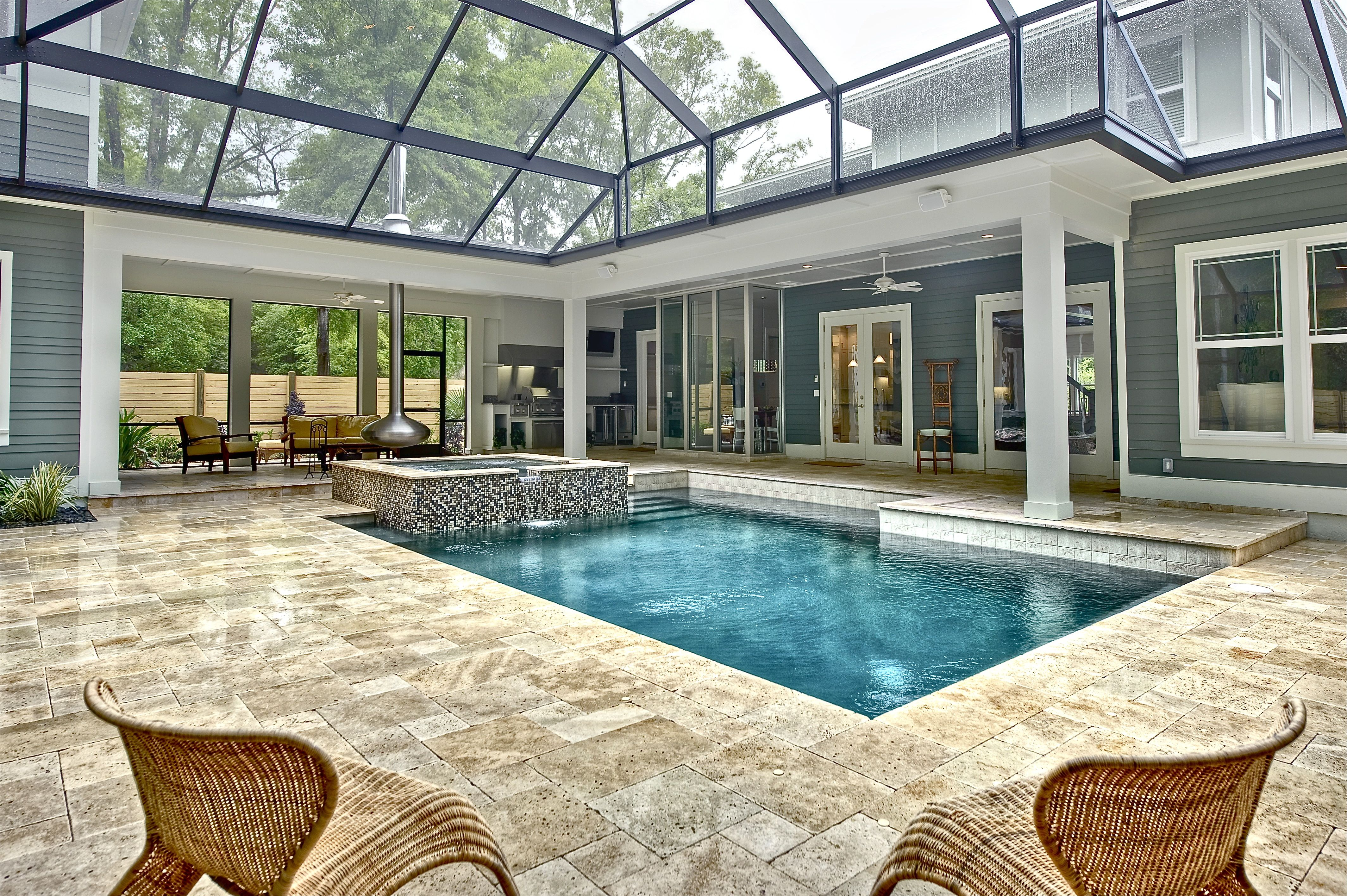 Indoor Pool   Glass Ceiling So That I Can Use It All Year Round
