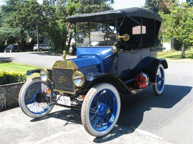 1915 Ford Model T Touring Car with Full Brass Trimmings. Blue exterior with black interior & 1915 Ford Model T Touring Car with Full Brass Trimmings. Blue ... markmcfarlin.com