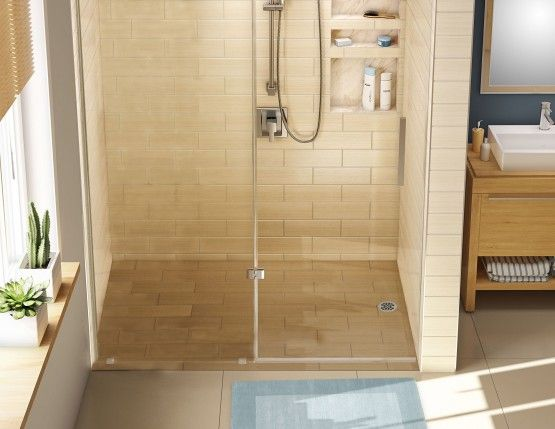 Tile Redi Barrier Free Shower Pan.Redi Free Barrier Free Shower Pan With Right Drain 30 D X