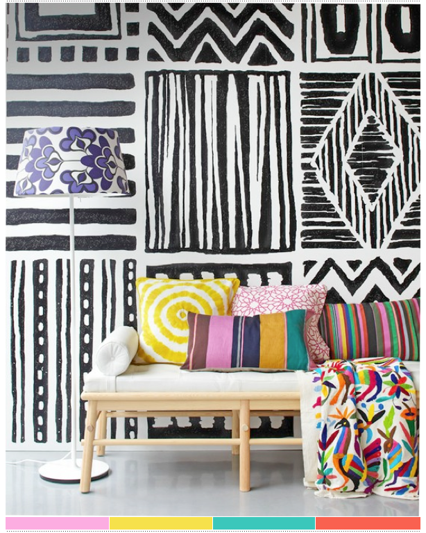 lovely mix of pattern via brightbazaar