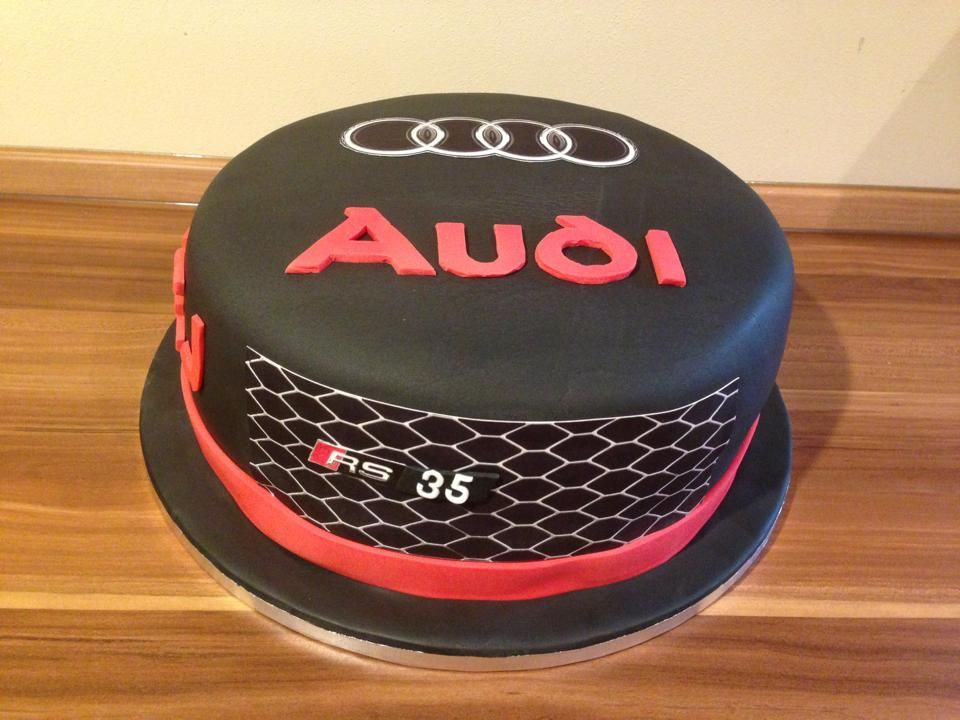 Audi cake for hubby 39 s 40th birthday backen pinterest for Mercedes benz cake design