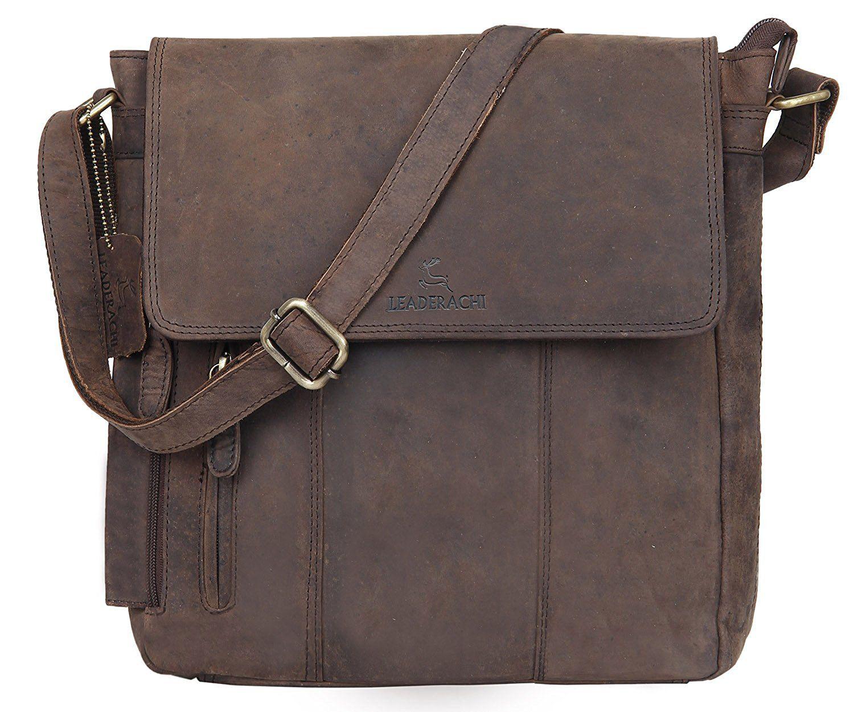 Hunter Leather Uni Messenger Bag