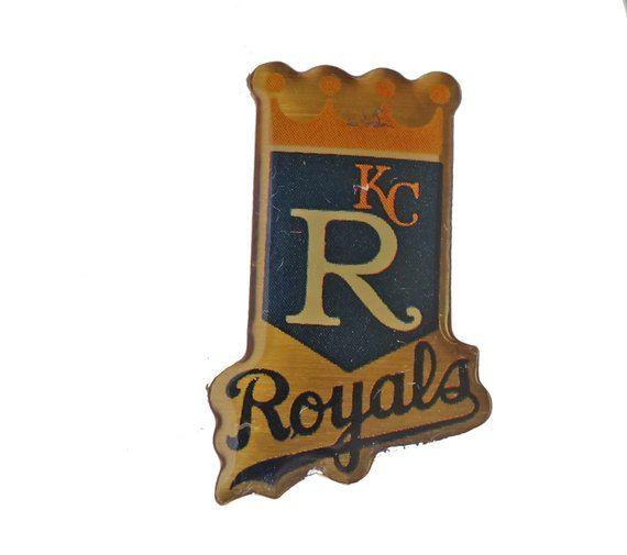 Kansas City ROYALS Logo Baseball mlb vintage enamel pin badge