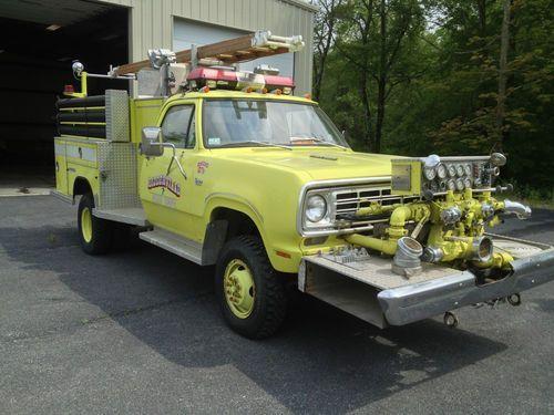 Find Used 1976 Dodge Power Wagon W300 Custom Fire Truck 4x4 Low Fire Trucks Dodge Power Wagon Power Wagon