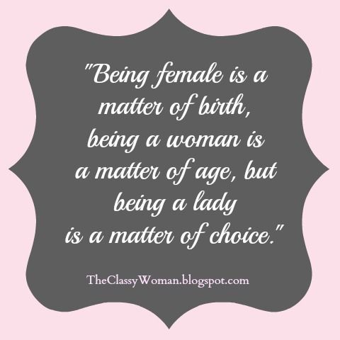 Image result for being a lady