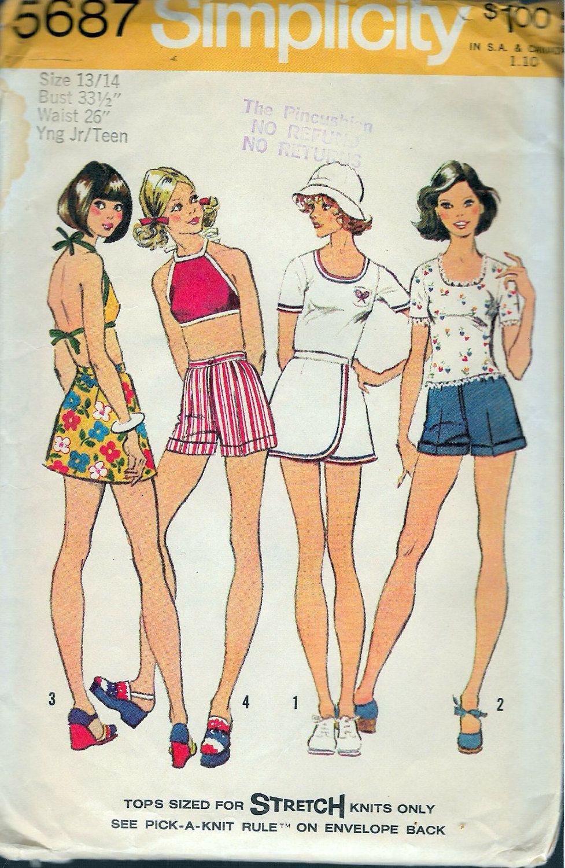 patterns sewing Junior shorts