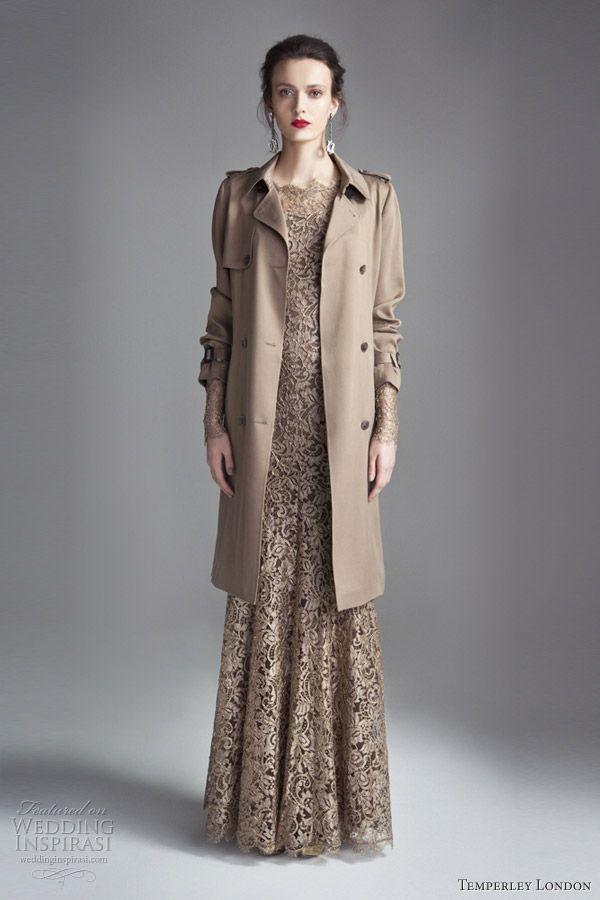 Coat over long dress