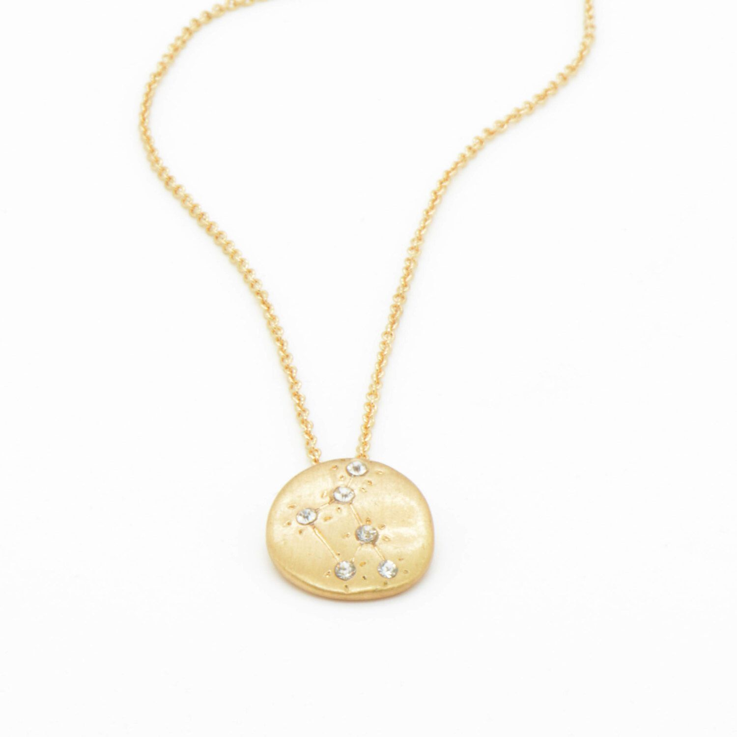 Hand made libra zodiac sign constellation necklace k gold plated