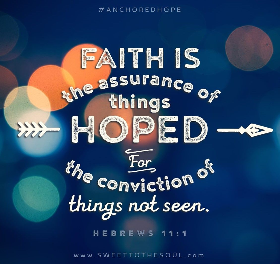 Hebrews 11:1   Anchored Hope Daily Scripture Reading And Journal