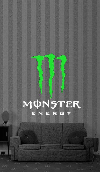 Monster Energy Drink Vinyl Wall Art Decor Decal 24 99 Via Etsy Motocross Bedroom