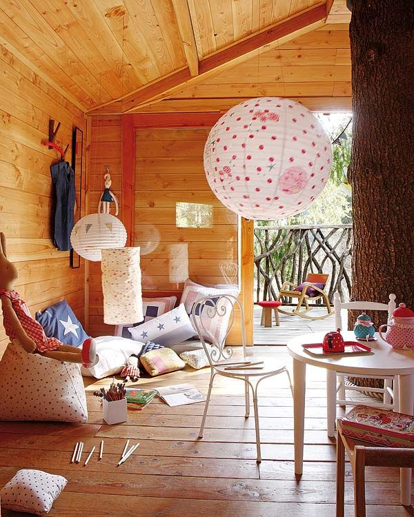 Playful Treehouse Refuge In Catalonia Tree House Decor Tree House Interior Tree House Kids