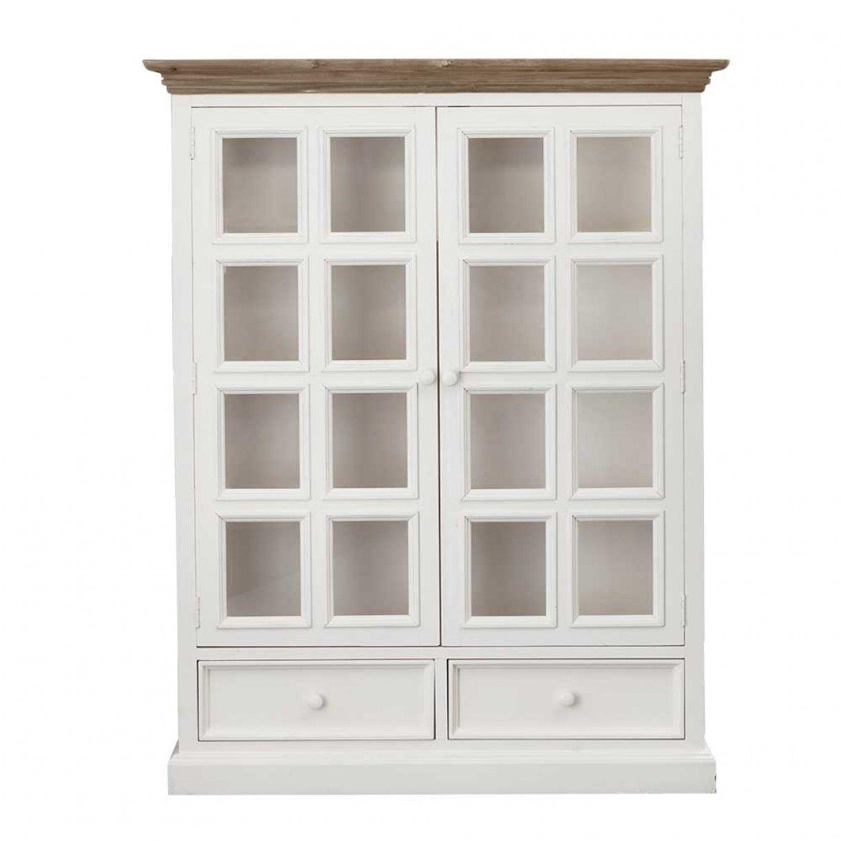 Perfect Mansfield 2 Door Display Cabinet White