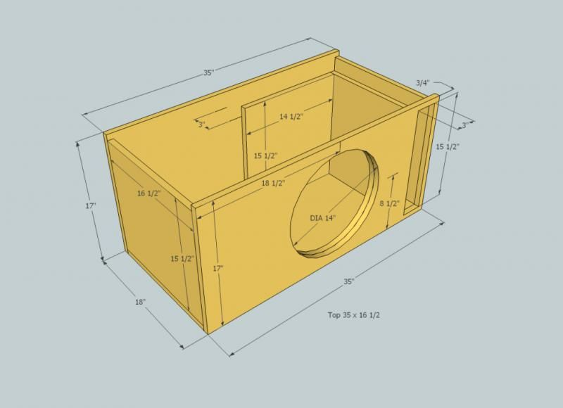 12 inch speaker box dimensions woodworking project ideas for Custom home build calculator