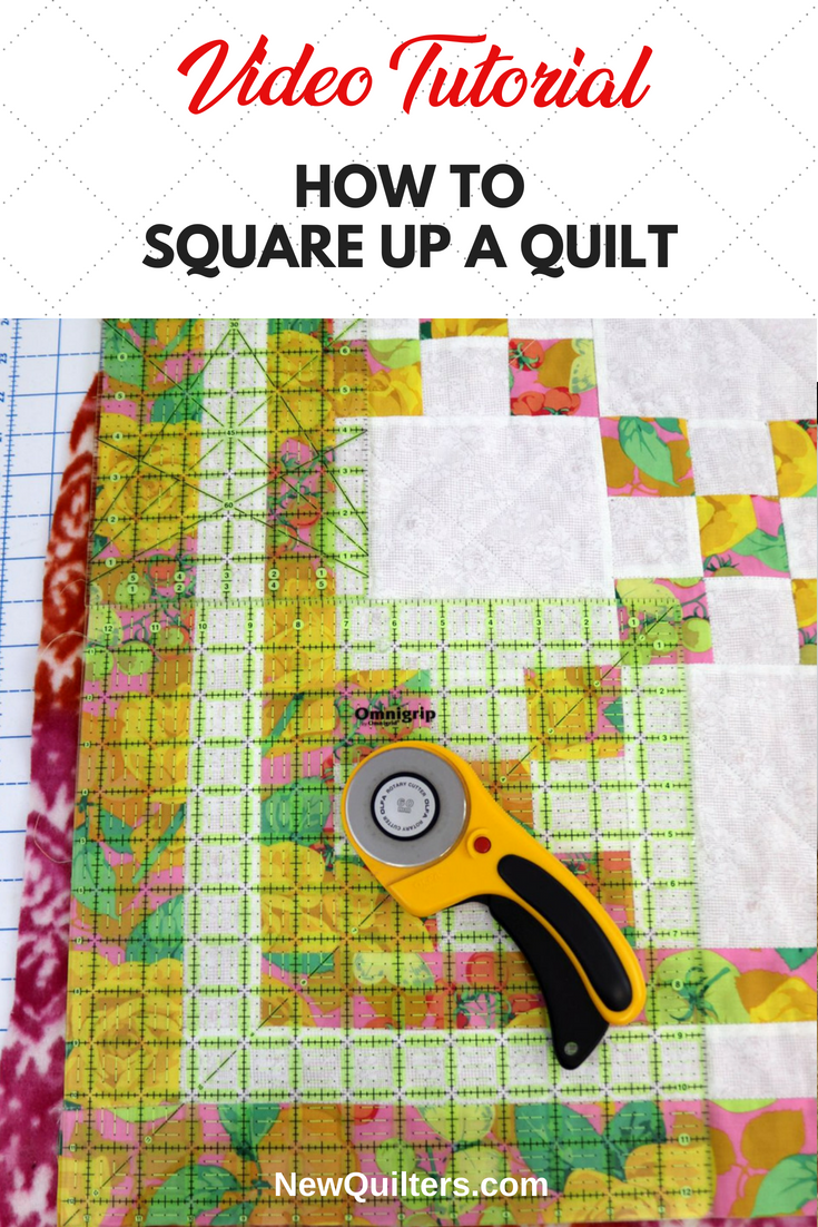 Squaring Up A Quilt Top Beginner Sewing Projects Easy Quilt Layers Quilt Block Tutorial