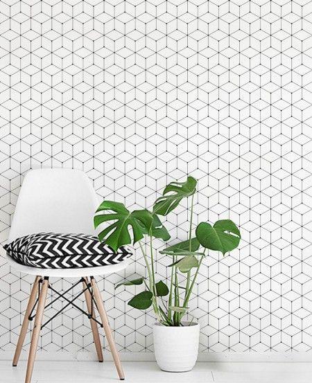 Geometric Cube Wallpaper Peel And Stick Fabric Wallpaper Simple Shapes Geometric Wallpaper