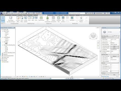 Revit Tutorials: Import 3D Site Topo Surface From Sketchup