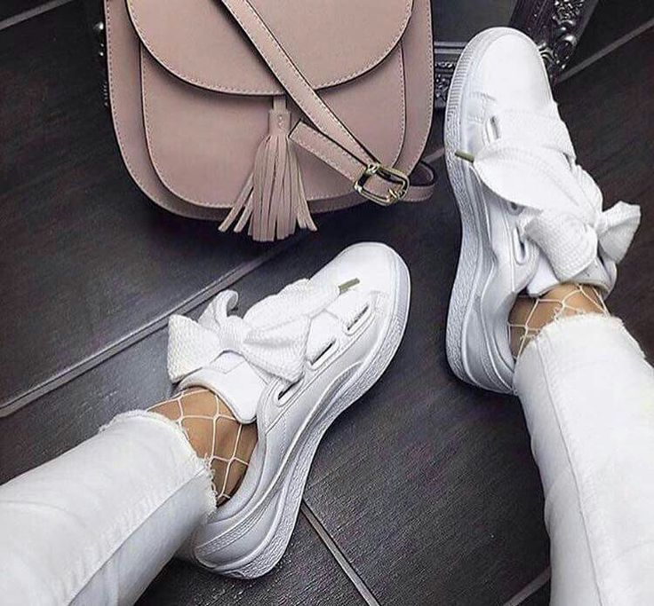 Puma basket heart patent sneakers | Zapatillas blancas mujer