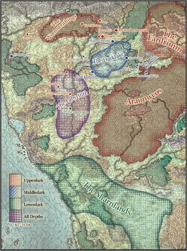 Map Of Fearun : fearun, Neverwinter, Expansion, Underdark, Takes, Dangerous, Mysterious, Realm, Hidden, Underneath, The…, Fantasy, World