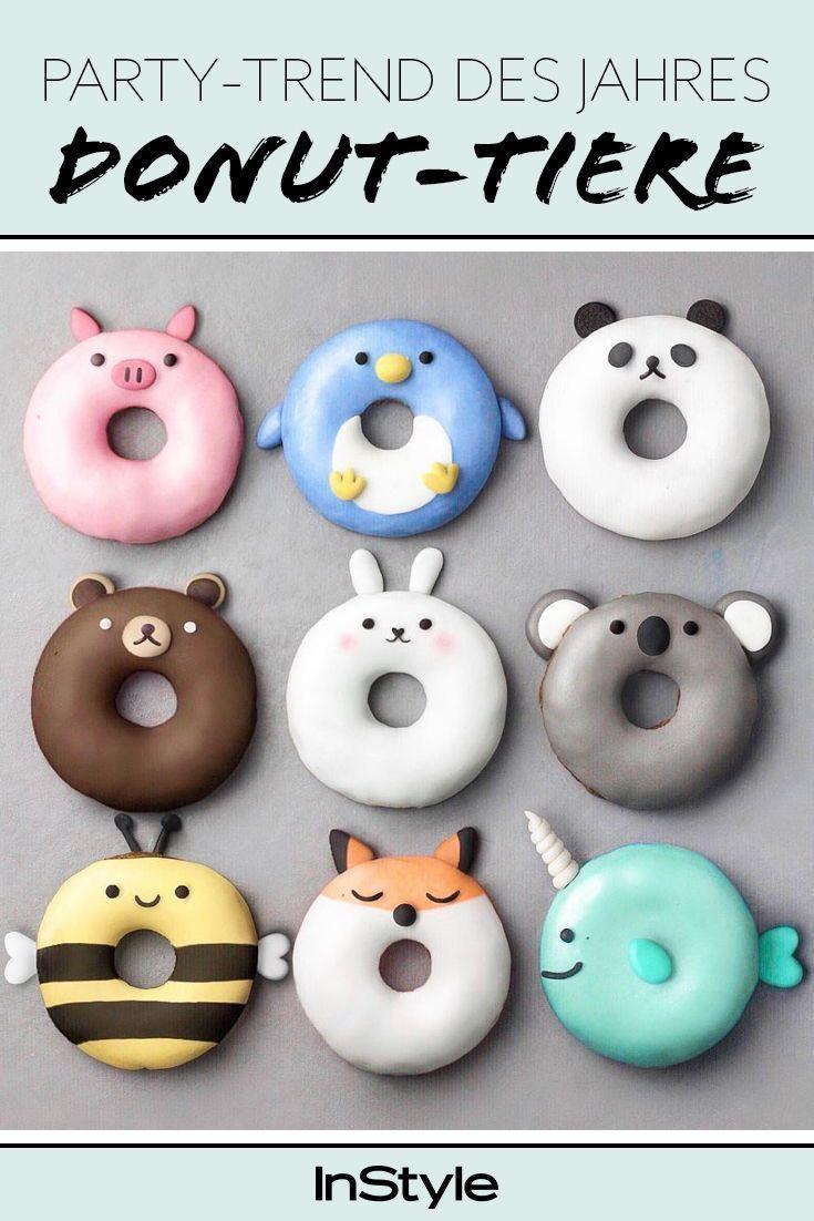 Donut-Deko ist der coolste Party-Trend auf Pinterest. Wir zeigen dir die fünf schönsten Ideen und wie du sie nachmachst. #instyle #instylegermany #donuts #donutdeko #backen #lecker #food