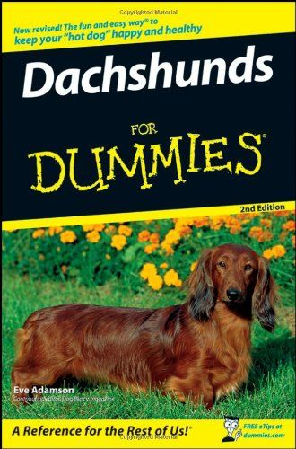 Dachshunds For Dummies For Dummies Pets Library User Group Dachshund Dummies Book Dachshund Love
