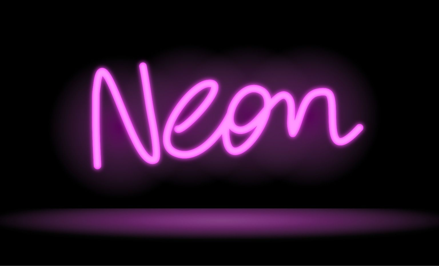 Drawing A Neon Sign In Inkpad Neon Signs Neon Neon Design