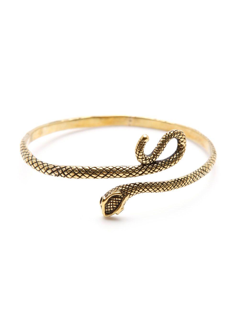 0a52d24fa5b Gold Snake Bracelet Antique Brass Black Uncut Diamond Eyes Womens Cuff by  carpediemjewellery on Etsy https