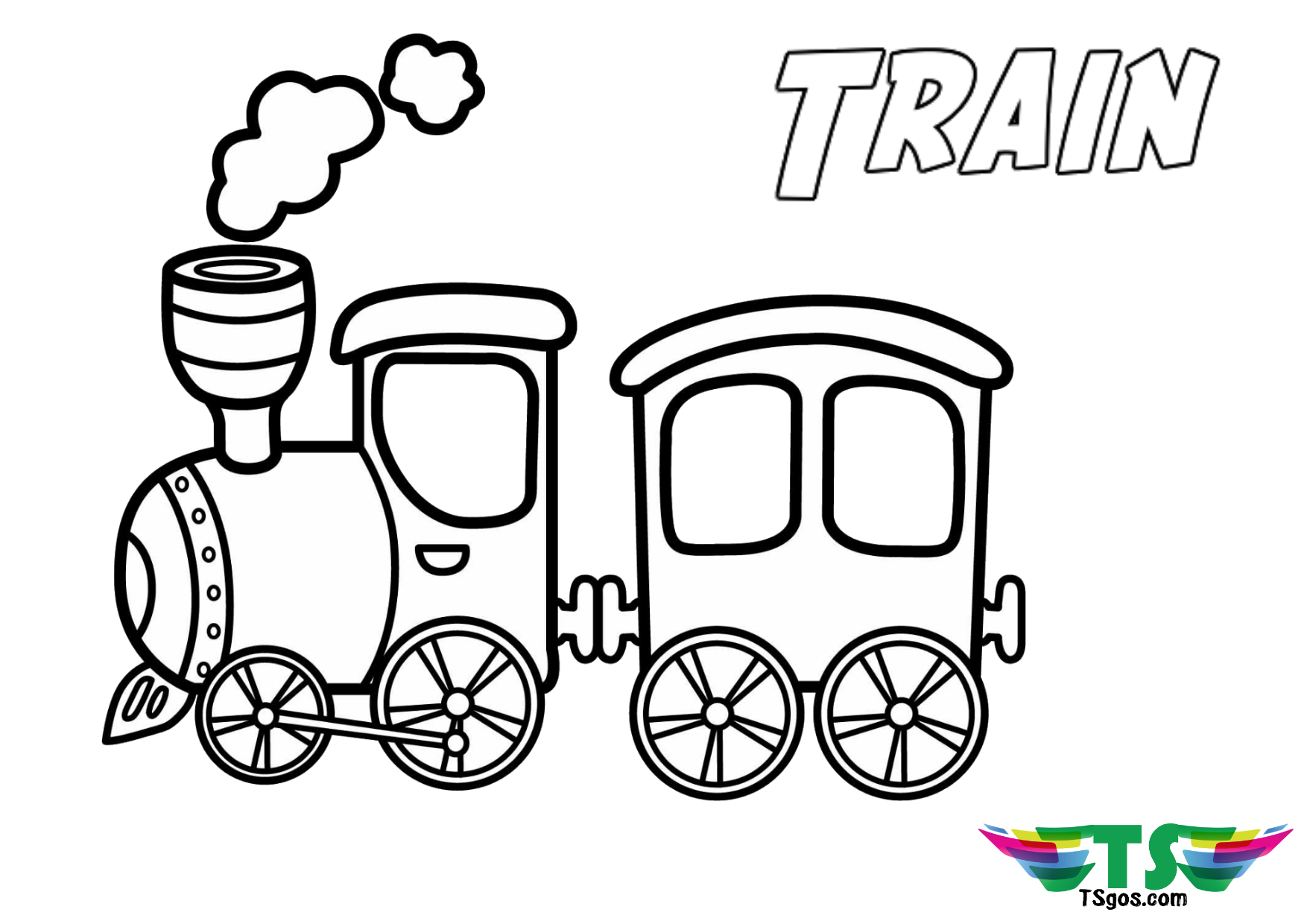 Train Coloring Page For Preschool And Toddlers In 2020 Train Coloring Pages Cars Coloring Pages Easy Coloring Pages