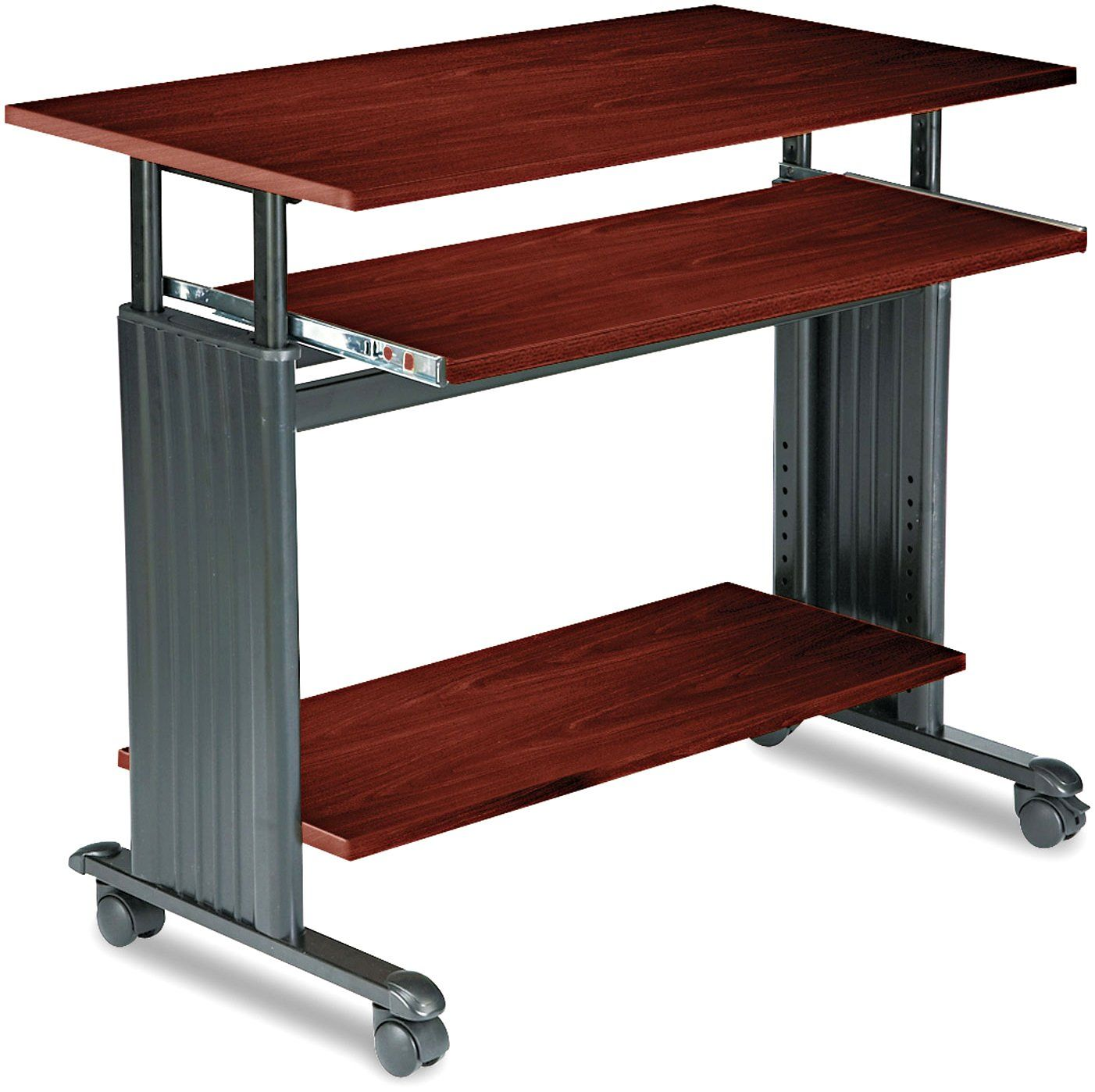 Cherry Safco Products 1926CY Muv Adjustable-Height Desk