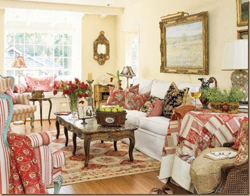 Country Cottage Decorating For Soften Home Impression : Cottage Living Room  Decorating Ideas