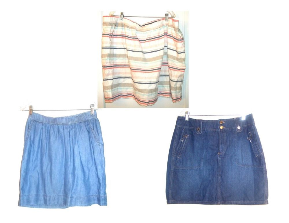eb5e65fd51 Sonoma Above Knee Denim Skirts & Linen Blend Skirts some NWT Sizes 4 - Plus  3X #Sonoma #ALine #Casual