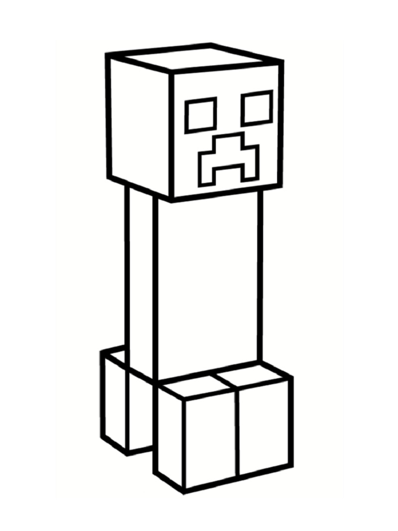 Minecraft Coloring Pages Creeper : minecraft, coloring, pages, creeper, Minecraft, Creeper, Coloring, Downloadable, Educative, Printable, Pages,, Creepers