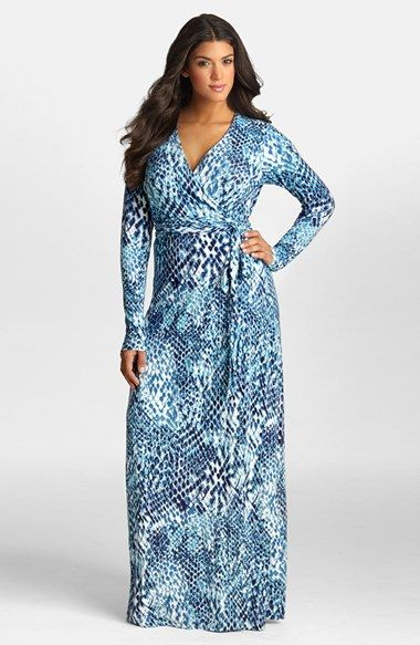 Free Shipping And Returns On Mynt 1792 Jersey Wrap Maxi Dress Plus