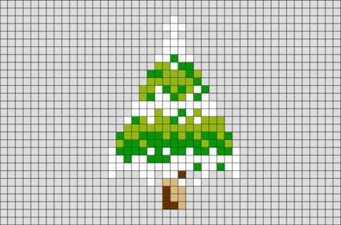 Pine Tree Pixel Art