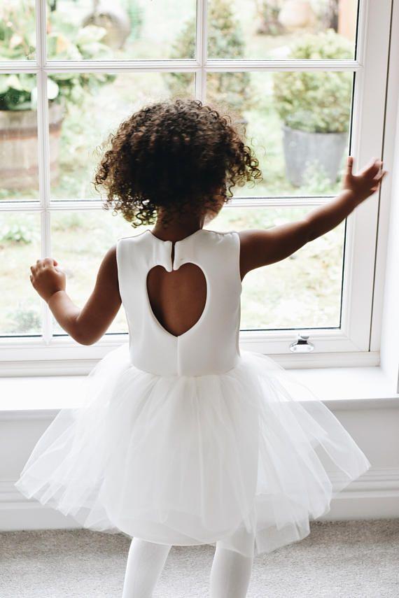 Handmade flower girl dress ivory sparkle tulle   K - Bridal   Pinterest