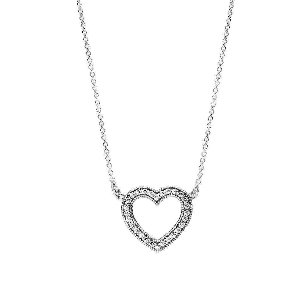 0140fa754 Loving Hearts of PANDORA Pendant Necklace Clear CZ 590534CZ-45  Adjustable... (eBay Link)
