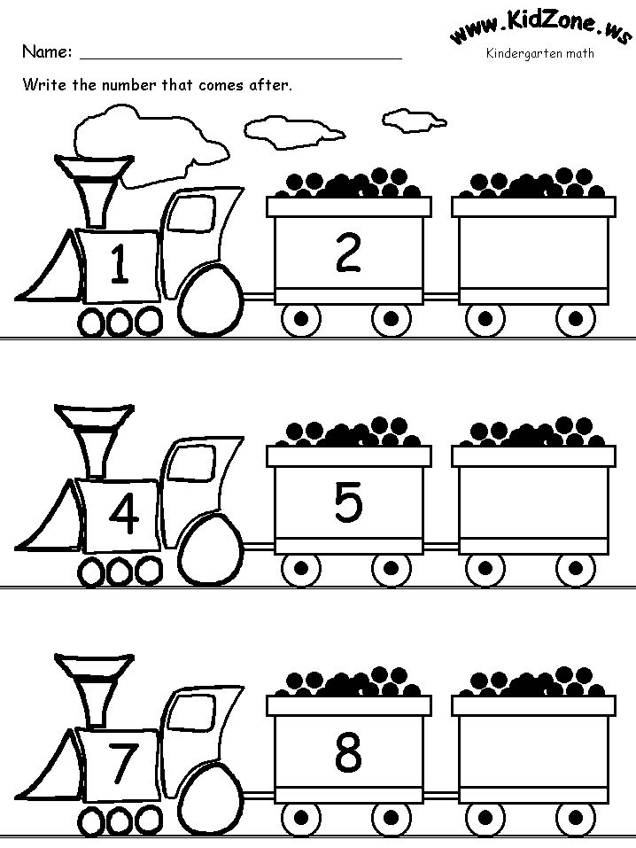 Image from http://www.kidzone.ws/math/k-next3.gif. | Transportation ...