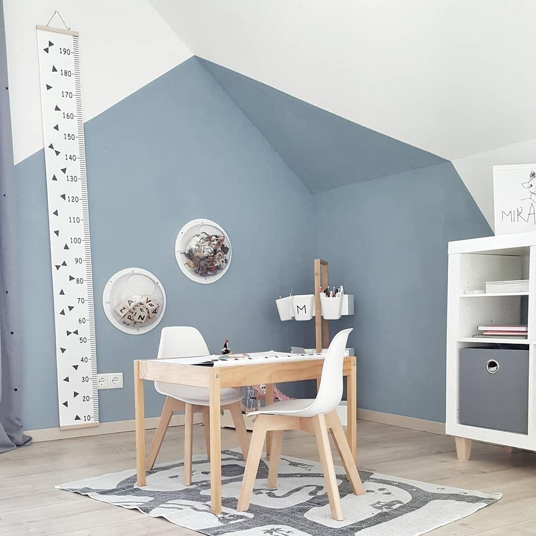Wandgestaltung Kinderzimmer Mit Dachschrage Wandgestaltung