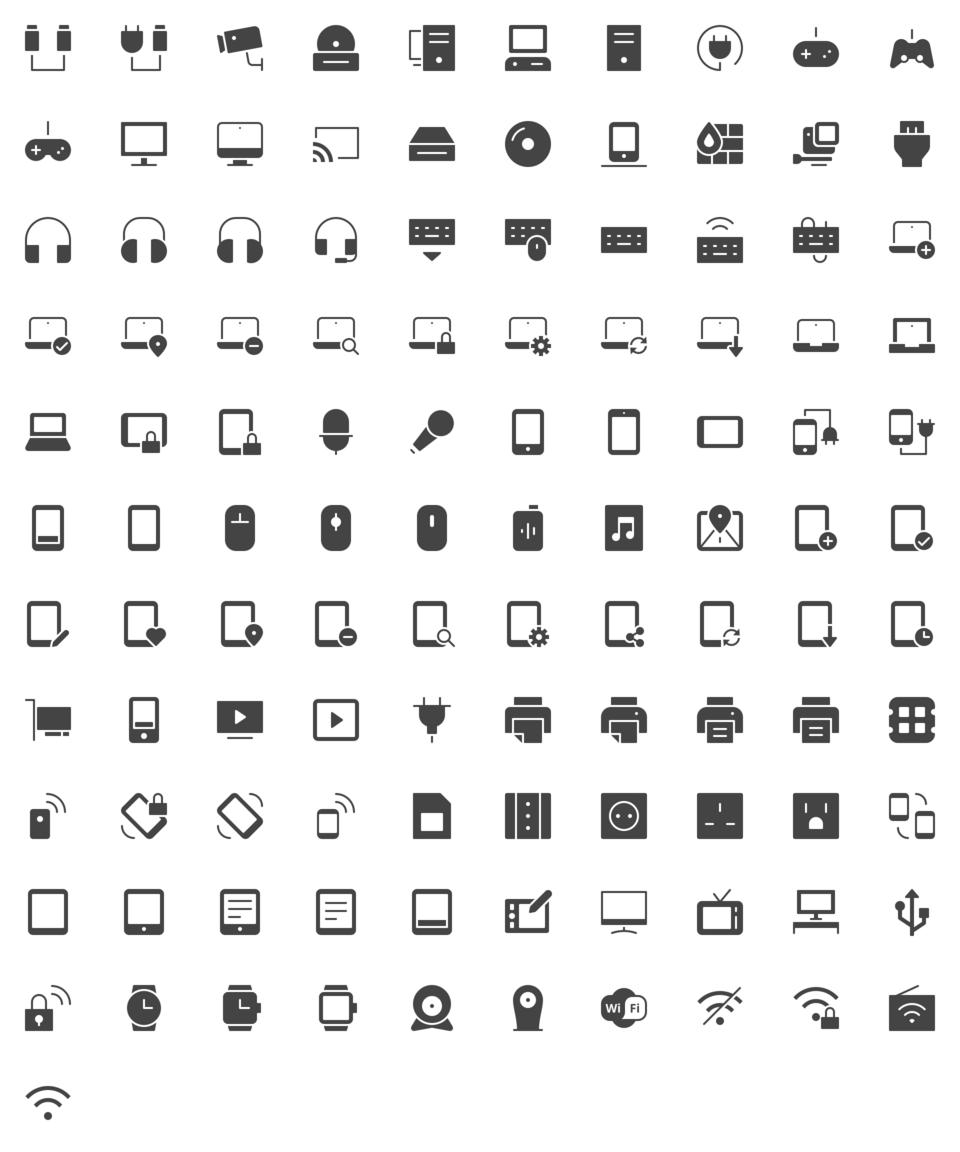 Technology Icons Technology Icon Icon Icon Font