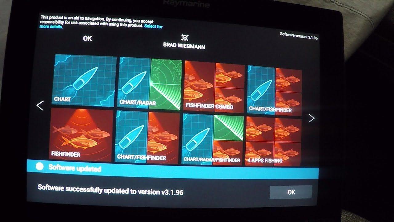 Raymarine Software Update 3 1 96 for Axiom featuring Electronic Guru