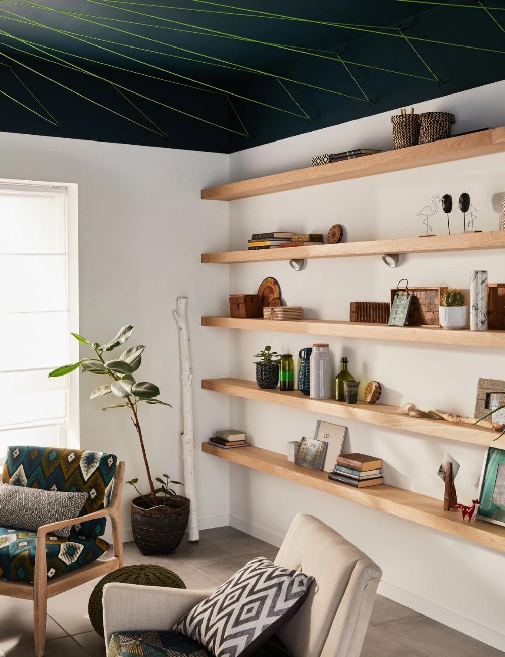 100 Fantastique Suggestions Idee Deco Salon Etagere