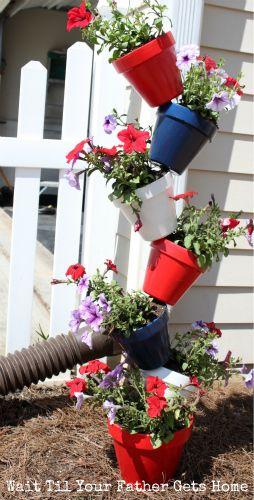 Terre Balkon | 1 Tige De Fer A Beton Et Des Pots En Terre Jardin Diy Pinterest
